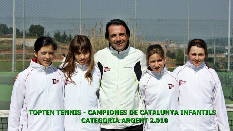 2010 Catalonian Team Championships  Topten Tennis Girls CHAMPION Team 16 & Under SILVER DIVISION